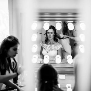 bride and mirror