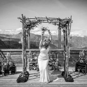 bride in alps